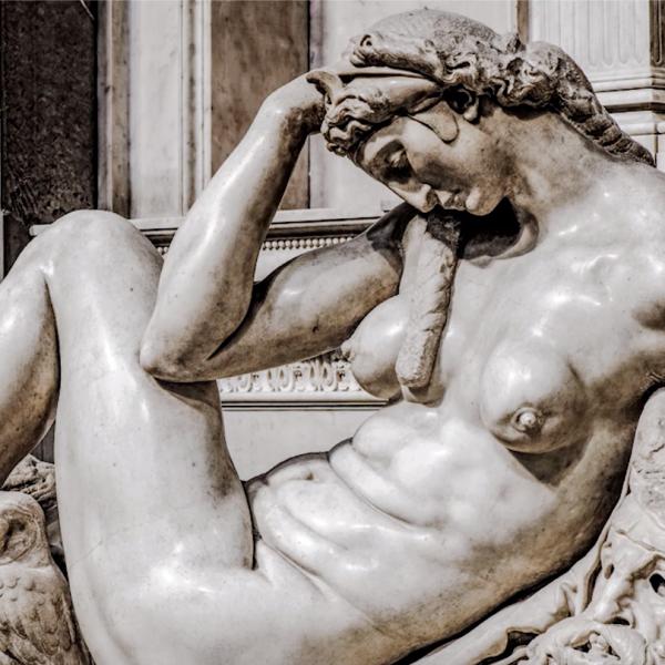 """Protetto: Intorno alla figura della """"Notte"""" di Michelangelo nelle tombe medicee"""